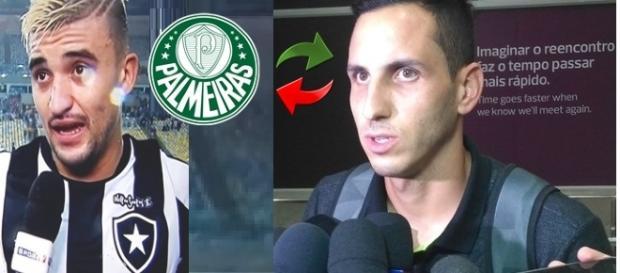 Gatito Fernandes e o goleiro Botafoguense (Foto: Reprodução/ Montagem)