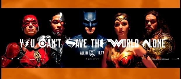 New Justice League Poster & Banner Revealed (Blue Batman Suit?) - YouTube/ComicBookCast2