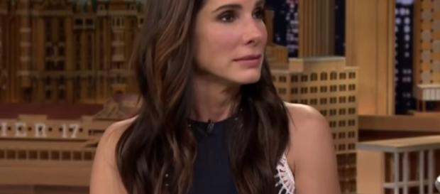 Sandra Bullock just made $1 million donations for the Hurricane Harvey victims. Image via YouTube/JiimyFallon