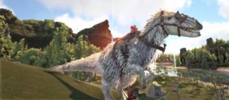 "An Alpha Yutyrannus in ""ARK: Survival Evolved."" - YouTube/KingDaddyDMAC"