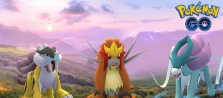 """""""Pokemon GO's"""" Raikou, Entei, and Suicune. - YouTube/aDrive"""