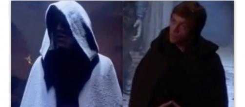 "A ""darker"" Luke in Return of the Jedi- screen shot via Reign of Fire on Youtube"