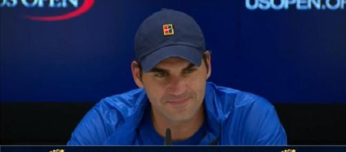 Federer during a press conference at 2017 US Open/ Photo: screenshot via Tennis Today channel on YouTube