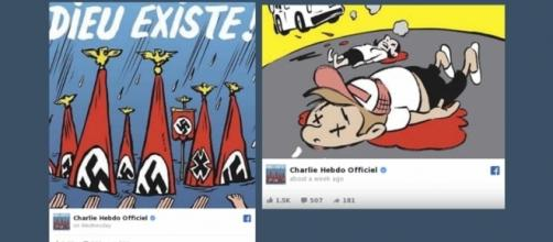 """French satirical magazine Charlie Hebdo has published a cover calling Texans """"Neo-Nazis"""" [Image: YouTube/New York Daily News]"""