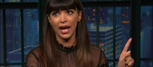 Hannah Simone and husband welcomed first son. YouTube/SethMeyers