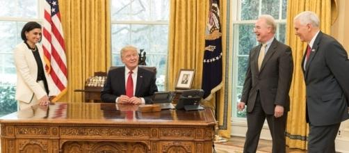 President Trump in Oval Office in March 2017. [Image via Flickr/White House]