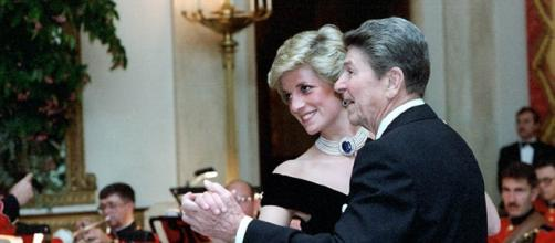 Princess Diana dances with President Reagan (US government wikimedia commons)