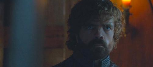 Tyrion's mysterious look in 'GOT' season 7 finale. Screencap: Ice Fire Reviews via YouTube