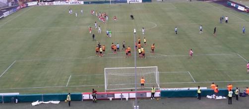 """Una foto dello stadio """"Via del mare"""" di Lecce."""