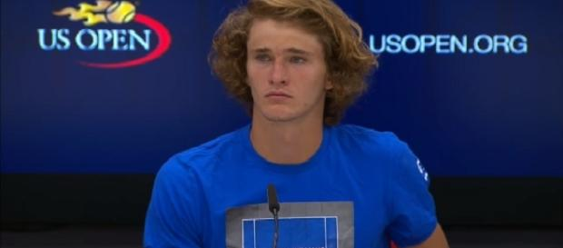 Alexander Zverev during a press conference at 2017 US Open/ Photo: screenshot via WeAreTennis channel on YouTube