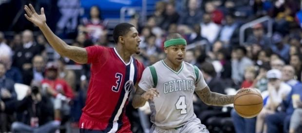 Isaiah Thomas with the ball in his former team | Flickr | Keith Allison
