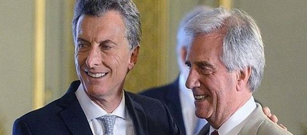 Tabaré Vázquez y Mauricio Macri