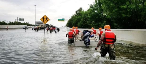 Texas National Guardsmen conducting rescue work during Hurricane Harvey/ photo via Department of Defense