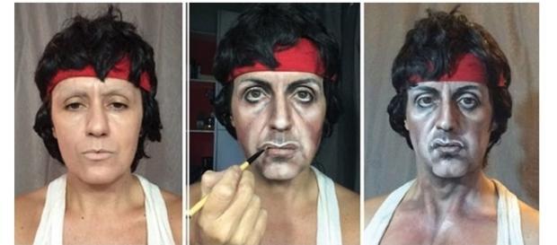 Usando apenas maquiagem, ela conseguiu um resultado incrível