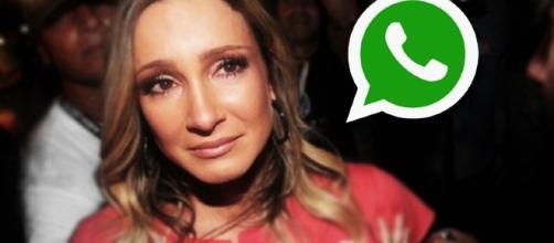 A cantora Claudinha causou polêmica em rede social