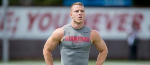 Carolina Panthers excited by Christian McCaffrey juke move- Photo: YouTube