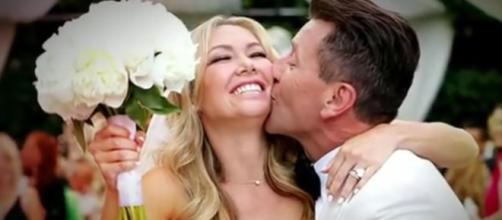 Kym and Robert marked first wedding anniversary. Image via YouTube/Good Morning America