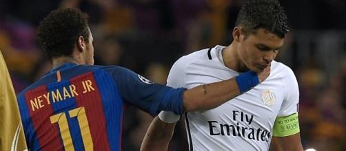 Neymar e Thiago Silva são bons amigos