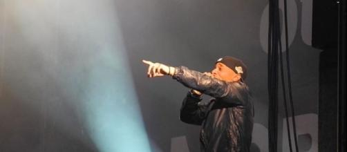 Prodigy of mobb Deep during a performance.