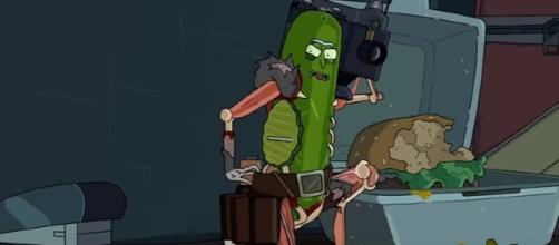 """Rick turns himself into a pickle in """"Rick and Morty"""" Season 3 Episode 3 titled """"Pickle Rick."""" (Photo:YouTube/Emergency Awesome)"""