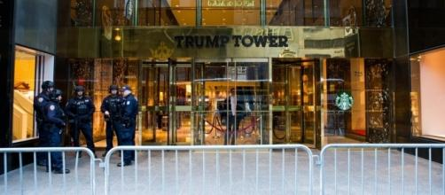 Security outside Trump Tower, New York. / [Image by Anthony Quintano via Flickr, CC BY 2.0]