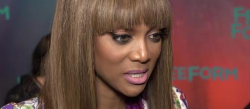 "Tyra Banks shared some details on upcoming movie ""Life Size 2"" and teased Lindsay Lohan's possible return. Image via YouTube/HollywoodLife"