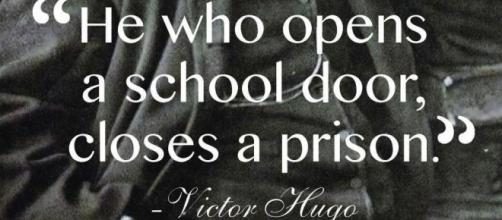 Victor Hugo's view of the importance of Education