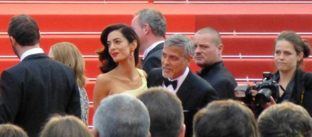 A photo showing George and Amal Clooney at the 2016 Cannes Film Festival - Flickr/GabboT