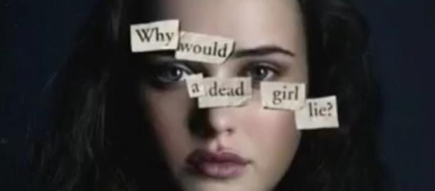 """A photo showing one of the posters for """"13 Reasons Why"""" - YouTube/Laura Balderrama"""