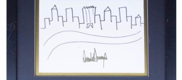 Drawing by Donald Trump (Image: artnet)