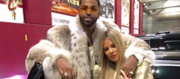 Khloe Kardashian and Tristan Thompson in an undated photo - YouTube/Wochit Entertainment