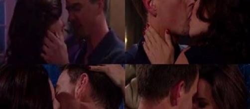 Beautiful: Katie e Wyatt si baciano