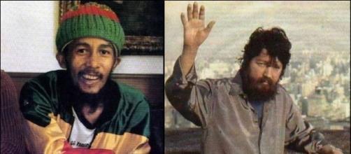 Bob Marley e Raul Seixas em suas últimas fotos