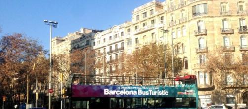 Bus turístico en Barcelona, España