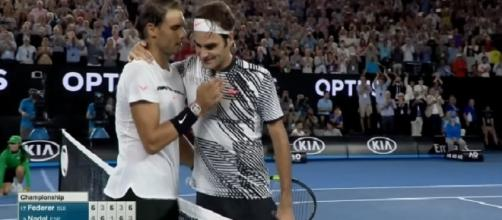 Federer and Nadal at Australian Open 2017/ Photo: screenshot via Uday channel on YouTube