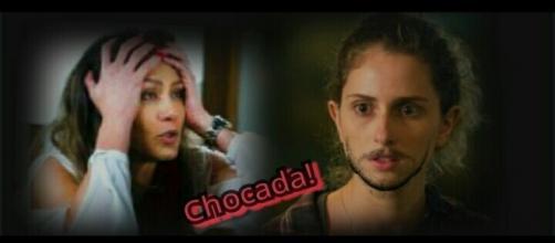 Joyce e Ivana na novela da Globo
