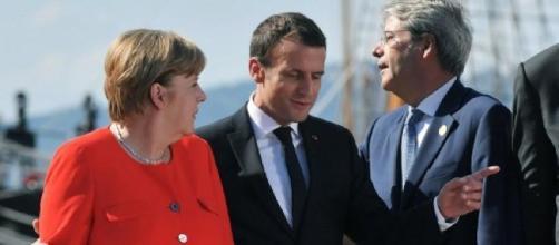 Merkel, Macron e Gentiloni devono trovare un'intesa sui migranti
