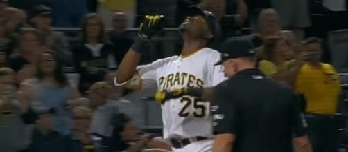 Polanco (25) after his hit, Youtube, MLB channel https://www.youtube.com/watch?v=IIU53odsg9w