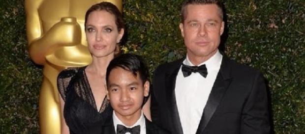 Angelina Jolie and Brad Pitt with son Maddox - Inside Edition/YouTube Screenshot