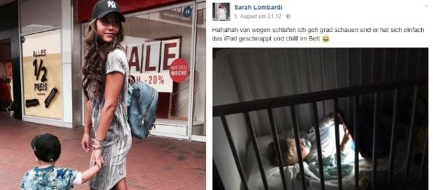 Ein witziger Post (li.) von Sarah Lombardi (24) zu Alessio (2) wird der Sängerin zum Verhängnis / Fotos: Sarah Lombardi, Facebook