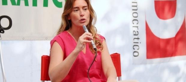 Maria Elena Boschi a una Festa dell'Unità