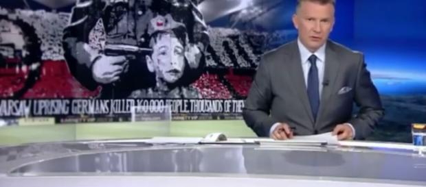 TVN na temat baneru kibiców Legii (źródło: facebook.com).