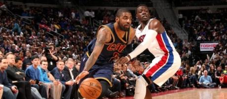 The Detroit Pistons are reportedly interesting in Kyrie Irving trade (via YouTube/NBA)