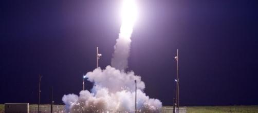 A Terminal High Altitude Area Defense interceptor is launched Image - Leah Garton | Dept Defense US