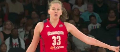 Emma Meesseman put up 17 points in today's Mystics' win over the Mercury. [Image via WNBA/YouTube]