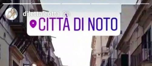 La story inserita su Instagram da Diletta Leotta.