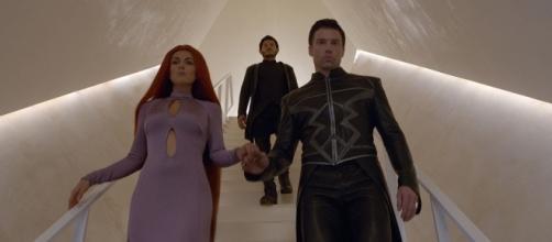Serinda Swan, Iwan Rheon and Anson Mount in Marvel's Inumans (Image: Marvel Entertainment | YouTube)
