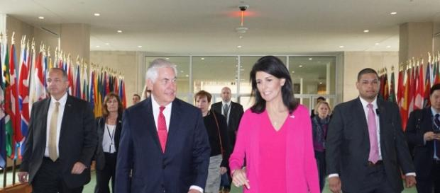 Haley and Tillerson at the UN (US State Department flickr)