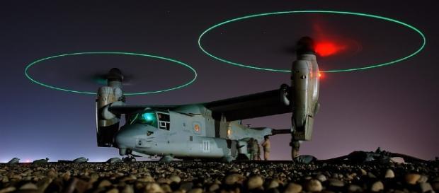 The Osprey landing on hard ground. https://pixabay.com/en/aircraft-landing-ufo-osprey-v-22-60535/