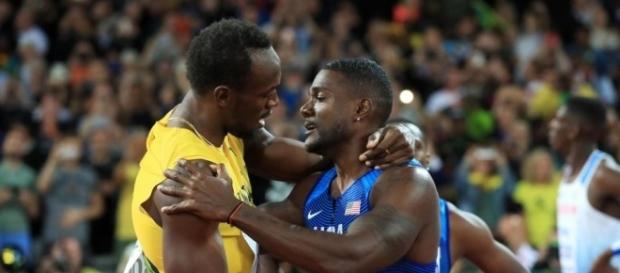 Usain Bolt gracious in defeat as he congratulates Justin Gatlin - thesun.co.uk